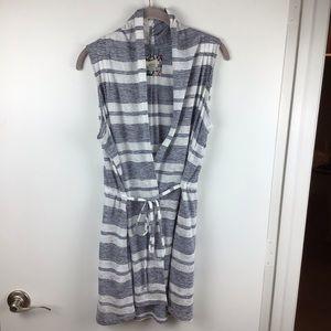 SATURDAY SUNDAY Sky Stripe Cardigan Vest